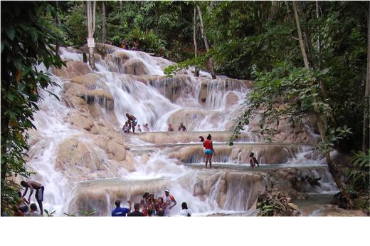 滝のぼりDunns River Falls