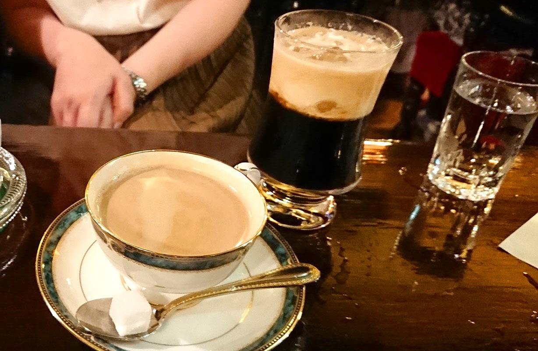 京都築地のアイリッシュコーヒー