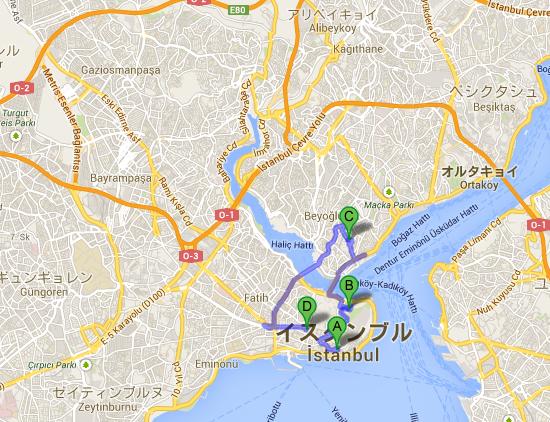 イスタンブールGoogle マップ