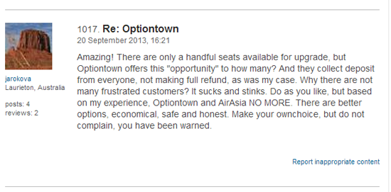 Air Travel Forum  Optiontown TripAdvisor