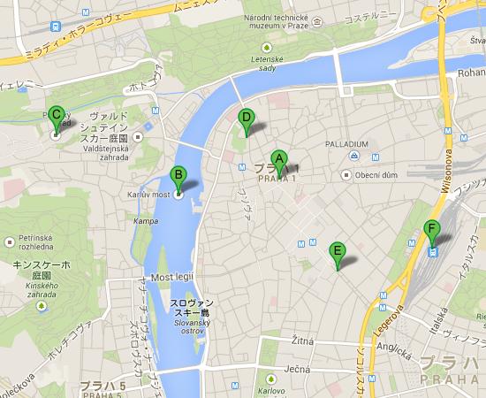 プラハ--Google-マップ