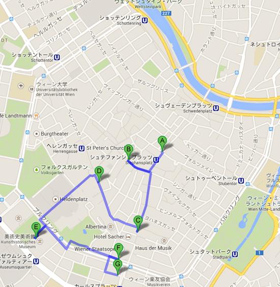 ウィーン Google マップ