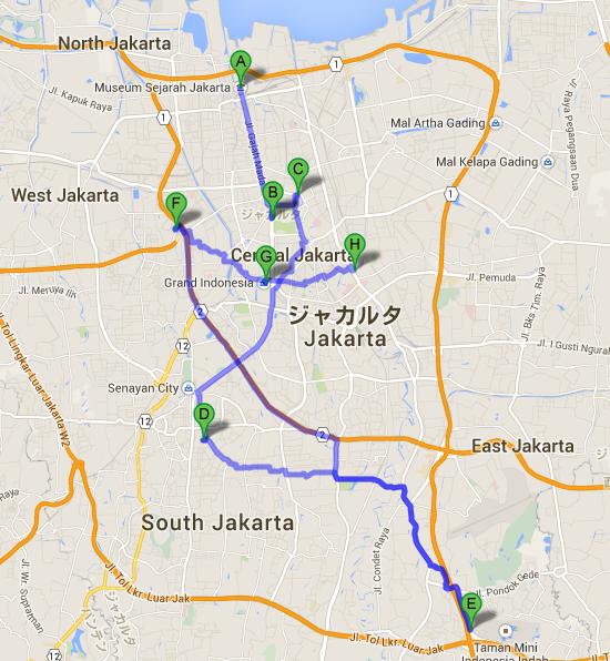 Jakarta History Museum から FIK PROPERTY JAKARTA   Google マップ