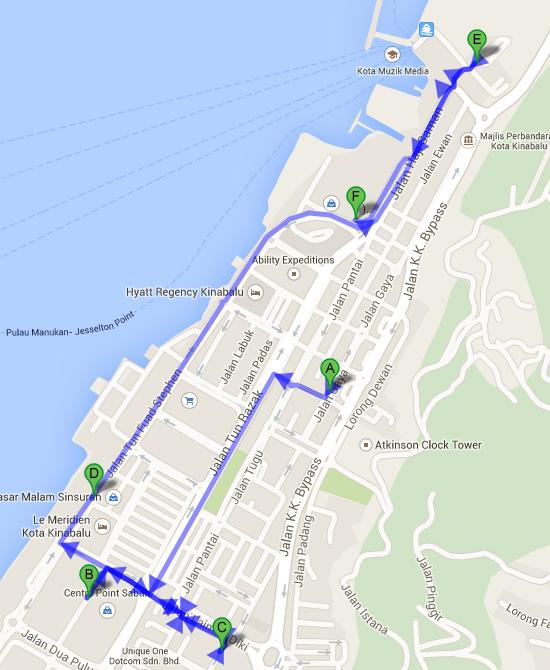 Sunday Market  Gaya Street  から Suria Sabah Pusat Bandar Kota Kinabalu Kota Kinabalu Sabah Malaysia   Google マップ