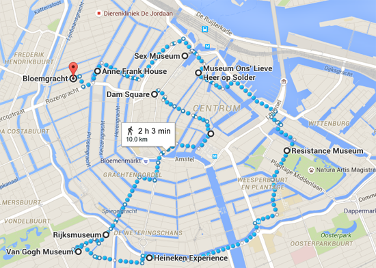 Dam Square to Bloemgracht  Amsterdam  Netherlands   Google Maps