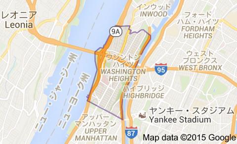 ワシントンハイツ地区の地図