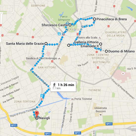 Duomo di Milano to Navigli   Google Maps