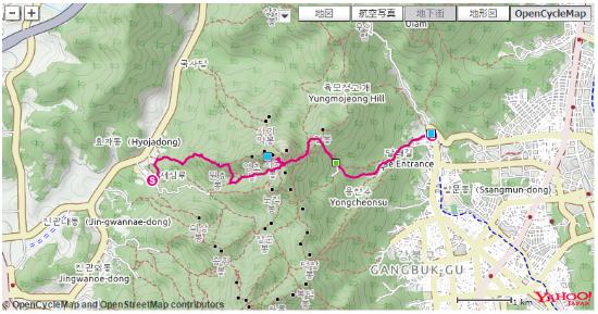 ソウルの北漢山  山行記録