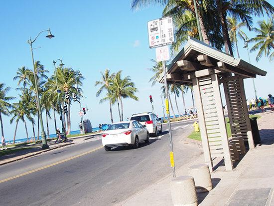 バス停と個人タクシー
