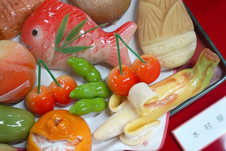 鶴岡市内のお菓子屋さんの作る練り切り