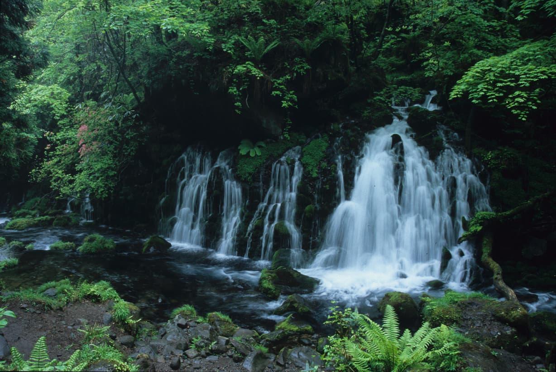 秋田県にかほ市の元滝伏流水