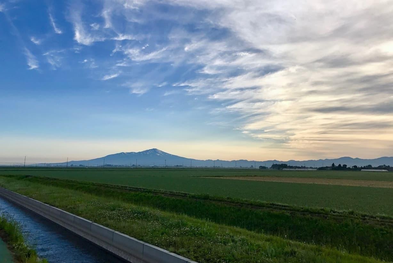 山形県三川町の田園風景