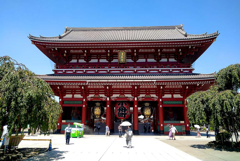 人の少ない浅草寺