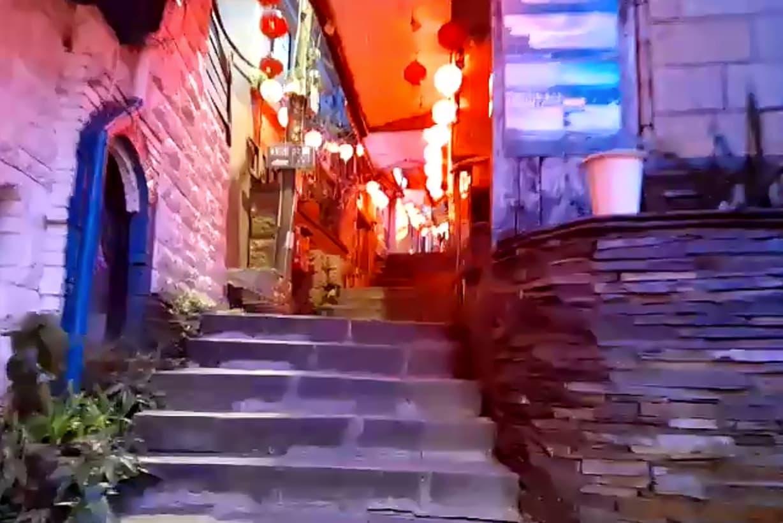 九份の老街階段