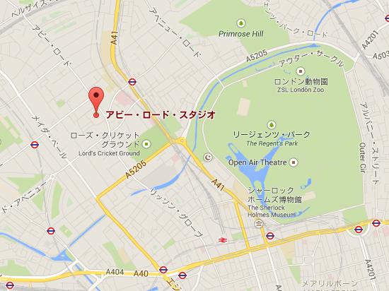 アビー・ロード・スタジオ   Google マップ