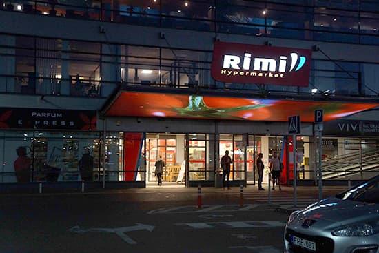 Rimiハイパーマーケット。結構なんでもある。高くはない。